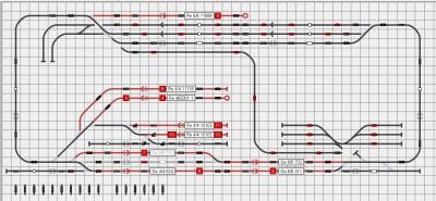 Gleisplan von Schattikon Süd und Nord in iTrain
