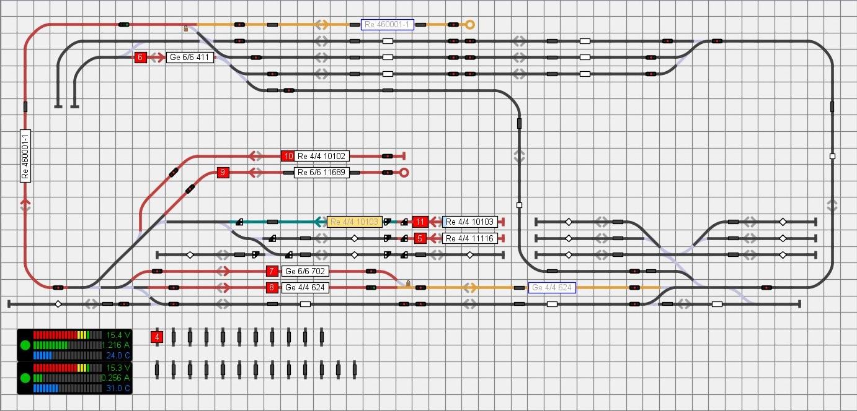 Gleisbild aus iTrain für die Ebene 0